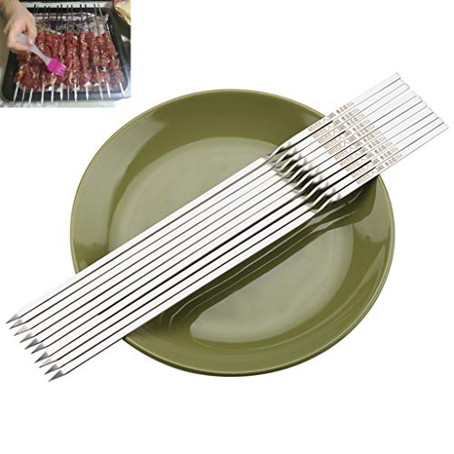 Why Should You Buy Skewers Barbecue Utensils, Stainless Steel, Iron, Easy to Clean and not Hurt Your...