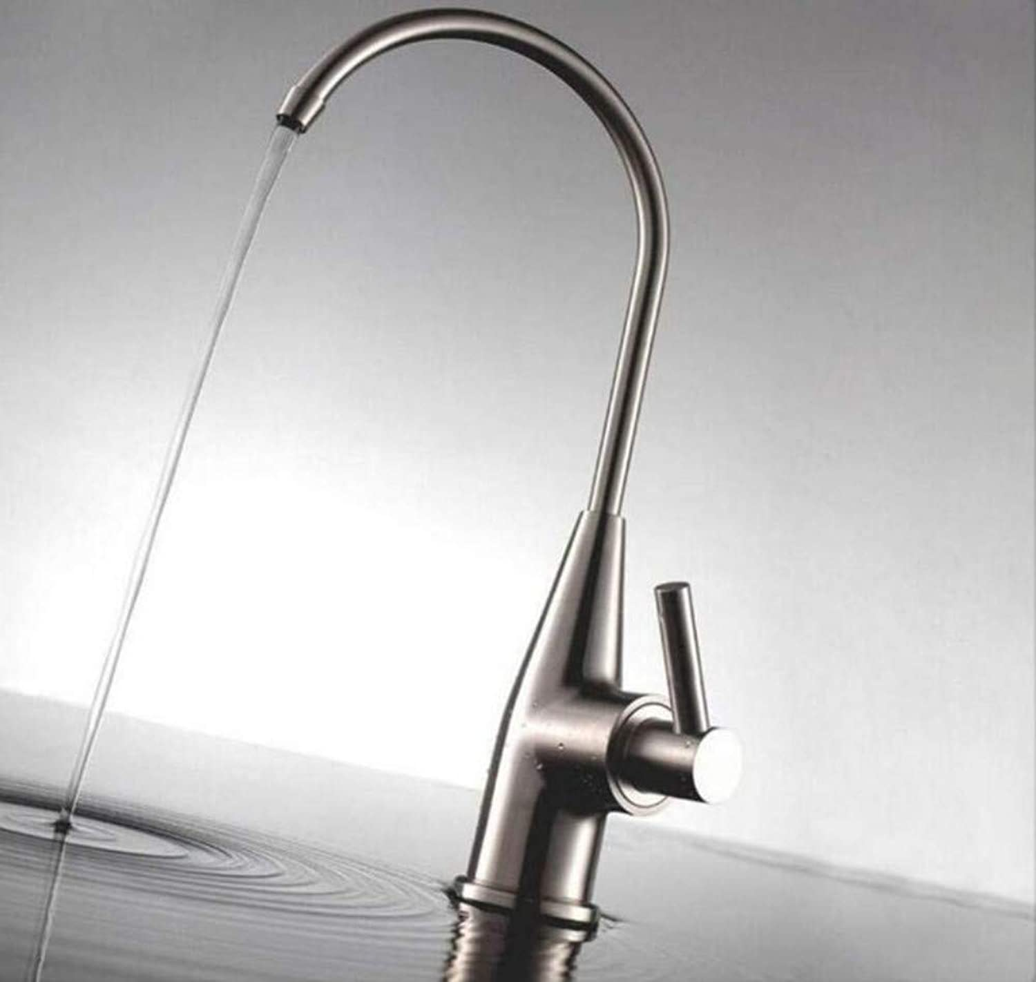 Faucet Lead-Free Square Innovation Nickel Kitchen Faucet Filtering Tap Mixer Single Handle Kitchen Faucet