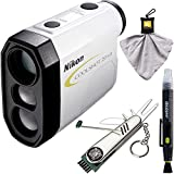 Nikon COOLSHOT 20i GII Golf Laser Rangefinder & Deco Essentials 7-in-1 Golf Tool +More