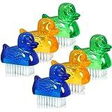 com-four® 6X Mini Handwaschbürsten im Enten-Design - Nagelbürste für Hand und Nagel Reinigung