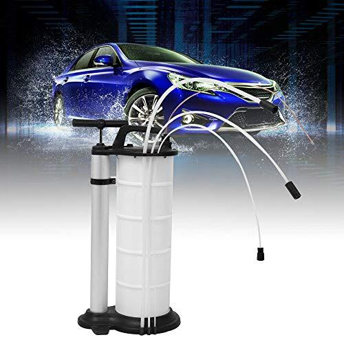 Fetcoi Aspiratore olio manuale da 9 litri con tubi da 4 mm, 6 mm, 10 mm, pompa di aspirazione dell'olio per la produzione di tipi di motore, ingranaggi, lubrificanti, bianco