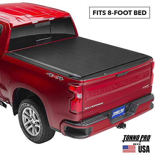 Tonno Pro Lo Roll, Soft Roll-up Truck Bed Tonneau Cover | LR-1040 | Fits 2007 - 2013, 14 HD GMC Sierra & Chevrolet Silverado 1500/2500/3500 8' Bed