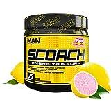 Man Sports Scorch - Fat Burning Powder for Men and Women - Hunger Suppressant - Weight Loss Supplement - 375 Grams, 75 Servings - Pink Lemonade