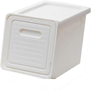 Boîte de rangement d'ouverture avant de rangement de jouets, panier de boîtes de rangement de vêtements, ouverture latéral...