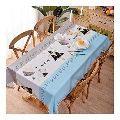 Mesa rectangular de paño impermeable lavable de lino tela para mesa de fiesta de cocina, mesa para recepción o uso sostenible, 2#, 100*137cm