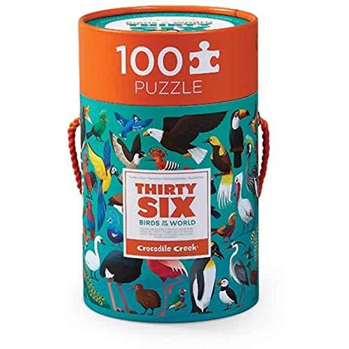 CROCODILE CREEK CC-3840552 - Puzle de 100 piezas los 36 pájaros
