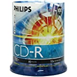 Philips D52N650 CD-R, 100 Discs (Pack of 1) - Packaging May Vary quad core laptops Oct, 2020