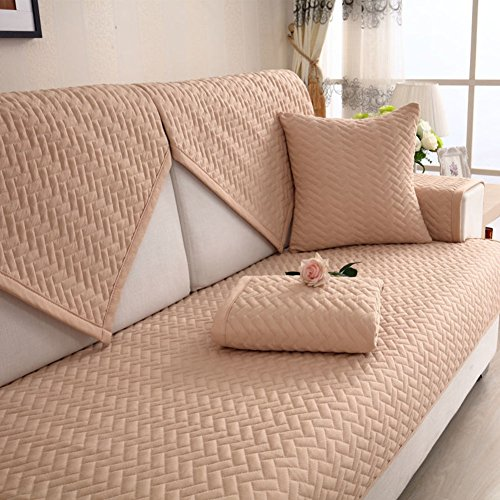 Check Out This DW&HX Pure Nordic Sofa Cushion Cotton Non-Slip Simple Modern Four Seasons Cotton Sofa...