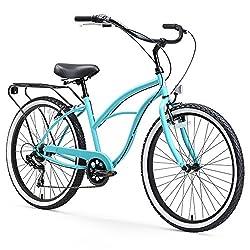 powerful Sixthreezero Around the Block, Ladies Beach Cruiser Bike, 7 Speed, 26 Inch, Turquoise Blue, …