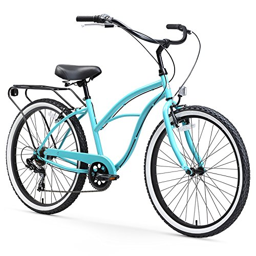 sixthreezero Around The Block Women's 3-Speed Beach Cruiser Bicycle, 26' Wheels, Mint Green with...