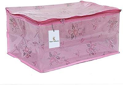 Kuber Industries PVC Wardrobe Organiser,Saree Bag Pink