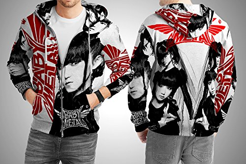 polyst Baby Metal Heavy Metal Japanese Idol Group Art 2 Fullprint Man Apparel Size S - XXXl ! (Zipper Hoodie, XXX-large)