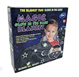 Magic Glow in The Dark Blanket Throw with Star Sky Objects Super Soft Snuggly Fluffy 50' x 60'