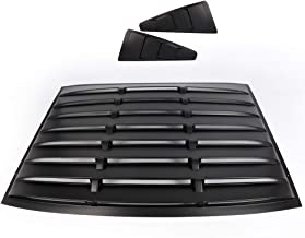 For 05-14 Ford Mustang GT Rear Window+Quarter 1/4 Side Window Louver Scoop Cover