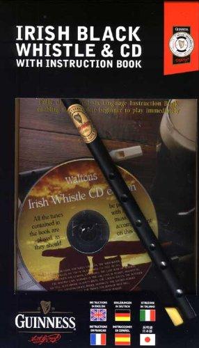 Guinness Irische Pfeifen Instrument Blechflöte mit Reiseführer, Handbuch und Lehr-CD in Verschiedenen Sprachen