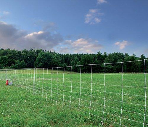 ARNDT Turbomax Extra elektrische tuinhek, 50 m x 105 cm, 15 palen - hondenhek, kattenthek, schaaphek, elektrische tuinhek, wilgenhek, omheining