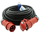 CEE-Verlängerungskabel Gummi H07RN-F 5G 4,0mm² 400V 32 A 25 Meter von KALLE DAS KABEL