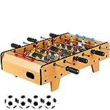 Großes Tischfußballspiel, 6 Rows Fun Tisch mit Beinen Tischfußball, Indoor & Outdoor Soccer Game Geschenke für Kinder Teens und Erwachsene- Holzoptik-45x50x18cm