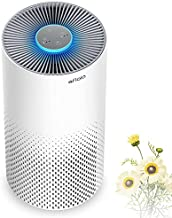 Air Purifier for Home Smokers 99.99% Effective, 22db |True H13 HEPA Medical Grade Filter Air Cleaner Removing Allergies, Odor Dust and Pollen for Bedroom And Office, With 7 Color Night Light(White)