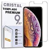 REY - Protector de Pantalla para iPhone XS MAX - iPhone 11 Pro MAX, Cristal Vidrio Templado Premium
