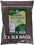 Get Chia Brand BLACK Chia Seeds with 6 TOTAL POUNDS in TWO x 3 Pound Bags