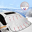 BeIM Frontscheibenabdeckung Auto Scheibenabdeckung Windschutzscheiben Abdeckung mit Magnet Fixierung Auto Frostschutz Abdeckung Faltbare Autoabdeckung gegen Sonne/EIS/Schnee/Frost/Staub, 160 x 130 cm