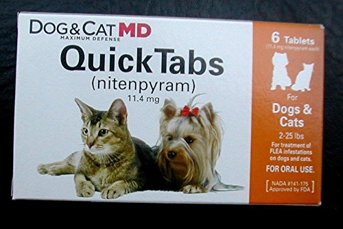 QUICK TABS (nitenpyram) equivalent of CAPSTAR for dogs/cats 2-25lbs 6pk