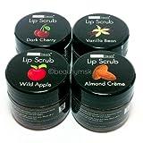 4pc Beauty Treats Lip Scrub with Almond Creme...