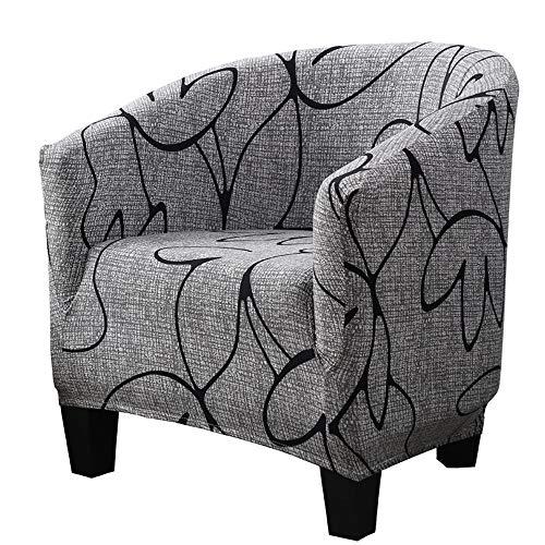 WINS Sesselbezug sesselhussen clubsessel husse für clubsessel elastisch Sessel bezug waschbar Sesselüberwurf clubsesselhusse