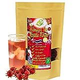 Té de hibisco 142g | OkO-OkO Premium ENTERO FLOR de Tailandia Natural Roselle Sabdariffa tradicional Bissap para la presión arterial, alta Infusión roja de hierbas para calmar y relajarse Sin cafeína