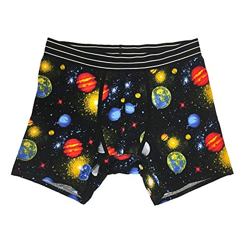 Under Disguise Young Men's Outer Space Boxer Briefs