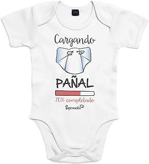 SUPERMOLON Body bebé algodón cargando pañal 6 meses
