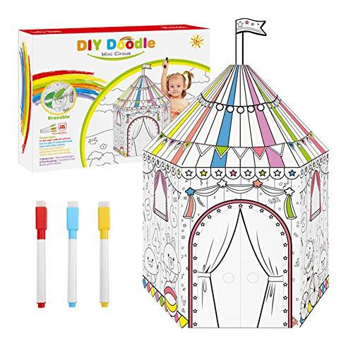 YUEHAPPY® Spielhaus Aus Pappe Prinzessin Pappspielhaus Zum Bemalen Haus Spielzeug Karton Prizessin