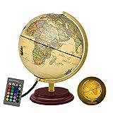 Best World Globes - LEYONA Illuminated LED World Globe Light, 16 Colors Review