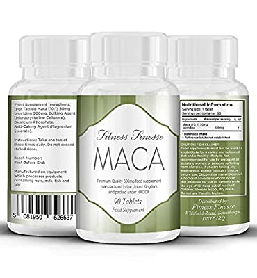 Maca Root 90 Tablets | Maca Root 500mg | Maca Root Extract | Balance Hormones, Aids Sexual Function, Increase Energy and Improve Mood | PMT | Period Pain | Safe and Effective | Manufactured in The UK