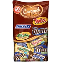 60-Pieces Mars Chocolate Caramel Lovers Fun Size Candy Bars, 37.64 Ounce