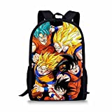 CuMagical Dragon Ball School Backpack for Elementary School Cartoon Book Bag