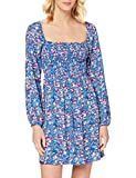 Springfield Smoking Eco V-c/15 Vestido de Fiesta, Azul (Medium_Blue 15), 44 (Tamaño del Fabricante: 44) para Mujer