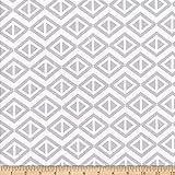 MOOK FABRICS 0728568 Flannel Geometric Stoff, Flanell,