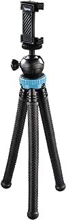 """Hama - Treppiede""""FlexPro"""" (per smartphone, GoPro e fotocamere, con gambe articolate, altezza 27 cm, colore: Nero/Blu"""