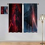 ARYAGO Cortinas decorativas de Star Wars, Kylo Ren con sable de luz y despierta de la fuerza impermeable cortina de ventana para dormitorio/sala de estar 106 x 182 cm