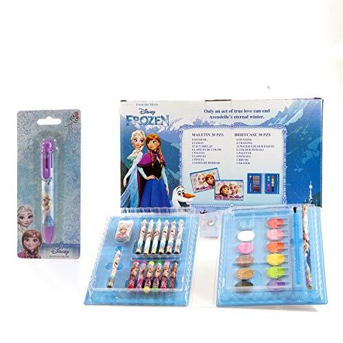 GESCO Set per COLORARE +Penna 6 Colori Frozen