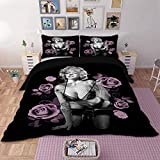 AZFACT Sexy 3D Marilyn Monroe Bedding Set Duvet Cover Bed Set Twin Queen King Size Home - Size USA King