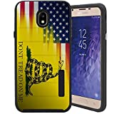 CasesOnDeck Case for Samsung Galaxy J7 2018/ J7 Crown/ J7 Refine/ J7 Top/ J7 Star/ J7 Aero 2018 - Slim Fitted Hybrid Fusion Embossed Dual Layer Cover (Dont Tread On Me)