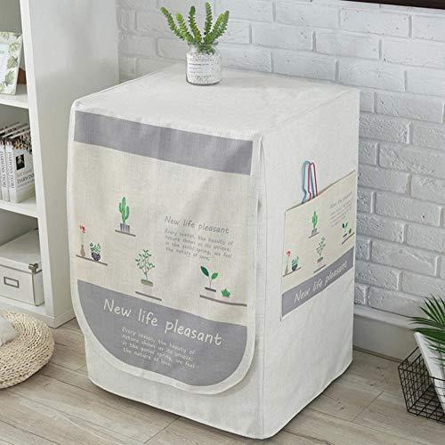 Funda De Lavadora Cubierta Impermeable Para Lavadora/Secadora De Carga Frontal Para Lavadora O Secadora,Cactus Simple 60X55X85Cm