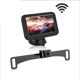 Riloer Kit di retrovisione per auto wireless 170 /° telecamera di retromarcia HD per visione notturna monitor LCD da 5
