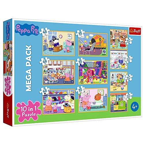 Peppa Mega Puzzle Box 10 en 1 Pig | 20, 35 y 48 Piezas