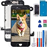 for iPhone 7 Screen Replacement Full Assembly Black 4.7inches, CLNGAI LCD Screen Repair Kit 3D Touch Display Digitizer Pre-Assembled with Camera Proximity Sensor Earspeaker+Screen Protector