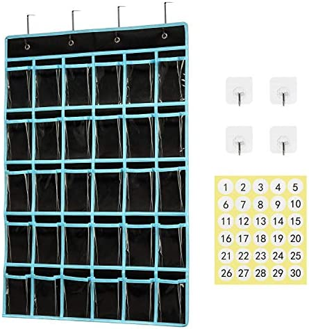 Classroom Pocket Chart Organizer KEEPJOY Cell Phones Calculator Holder for Classroom Storage product image