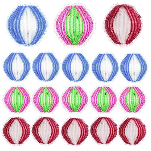 mengger Washing Ball 18 Pezzi Lint di Lavaggio Palla Rimozione Palline da bucato Riutilizzabile Cattura peli Lavatrice Sfere per bucato Pulizia Animali/Vestiti/Biancheria da Letto